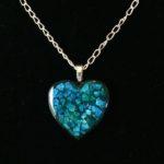 mosaic,eggshells,blue,crushed heart
