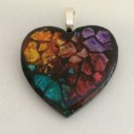 Large 2in Heart multi colors $35 chain included