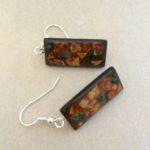 mosaic,earrings,eggshells